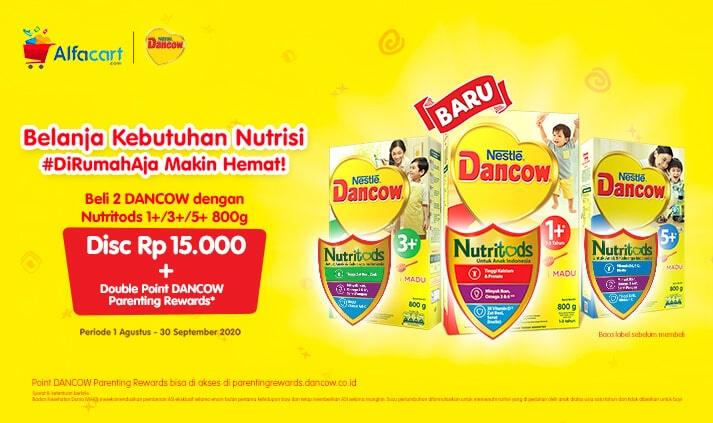 Promo Double Point DANCOW Parenting Rewards dengan Belanja di Alfacart